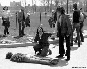 Kent State May 4, 1970 Mary Ann Vecchio beside the body of Jeffrey Miller. COPYRIGHT jOHN FILO